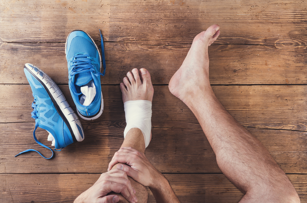 person has an ankle personal injury in San Diego