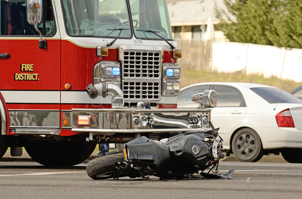 image of a motorcycle accident where our chiropractor in san diego treated the victim